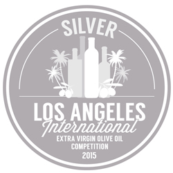 2015. Los Angeles International Extra Virgin Olive Oil Competition. Los Angeles, California. Silver Medal Award.