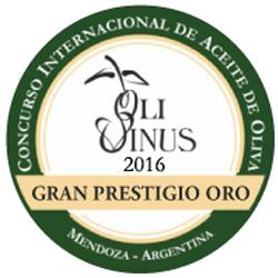 2016. Gran Prestigio Oro. OLIVINUS de Argentina