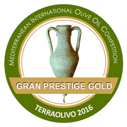 "2016. Grand Prestige Gold at the Terraolivo Jerusalem competition, ""Puerta de las Villas"""