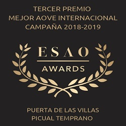 2019. 3rd prize to the best International EVOO. ESAO Awards.