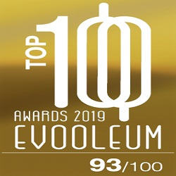 2019. EVOOLEUM Guide. World's TOP 100 Extra Virgin Olive Oils. Score: 93. TOP 10.
