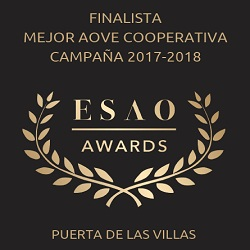 2018. Finalist in best Spanish EVOO produced by cooperative. ESAO Awards.