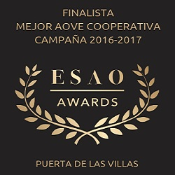 2017. Finalist in best Spanish EVOO produced by cooperative. ESAO Awards.