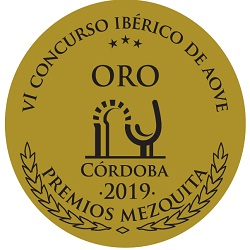 2019. Mezquita Awards. VI Iberian Competition for EVOO Quality. Gold Mezquita.